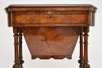 Antique Victorian Burr Walnut Games & Work Table (9 of 14)