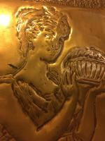 "Art Nouveau Brass Plaque "" Pandora"" (5 of 6)"