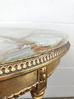 Gold Gilt Table with Circular Onyx Top (5 of 11)