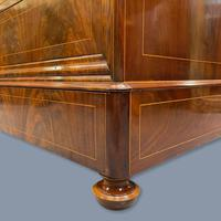 Exceptional French Marble Top Mahogany Inlaid Commode (5 of 12)