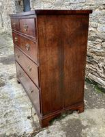 Antique Oak Chest of Drawers with Crossbanded Edge (7 of 17)