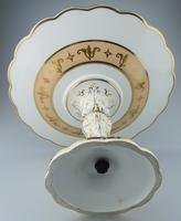 A Porcelain Comport / Tazza Hand Painted Coastal Scene C.19thc (5 of 6)