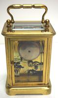 Good Antique French 8-day Carriage Clock Bevelled Case with Bell Alarm Feature (9 of 13)