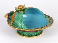 Minton Majolica Pottery Pedestal Chestnut Dish Dated 1867 (10 of 14)