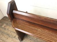 Antique Pitch Pine Church Pew with Enamel Number '37' (9 of 12)