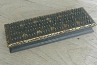 Antique 1863 American Civil War John Gill Hedgehog Cast Iron Cribbage Board (7 of 8)