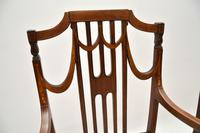 Pair of Antique Edwardian Inlaid  Mahogany Armchairs (6 of 12)