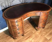 Edwardian Inlaid Mahogany Kidney Shaped Desk (6 of 21)