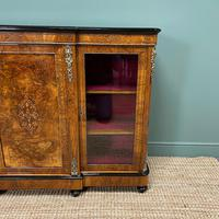 Spectacular Figured Walnut Victorian Break Fronted Antique Credenza (5 of 10)