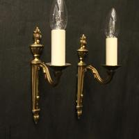 French Pair of Single Arm Antique Wall Lights (9 of 10)
