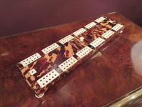 Antique Tortoiseshell & Bone Cribbage Board (2 of 6)