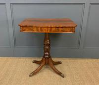 19th Century Flame Mahogany Lamp Table (4 of 10)