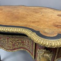 French Boulle & Brass Marquetry Bureau Plat (2 of 13)