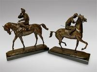 A. Tchernochtchekov - Bronze Pair of Horses & Jockeys (2 of 9)