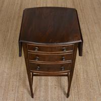 Chest of Drawers Mahogany Bowfront Drop Leaf 19th Century Petite (4 of 11)