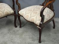 Art Nouveau Style Inlaid Mahogany Elbow Chairs (10 of 11)