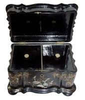 Papier Mache Tea Caddy with Mother of Pearl (3 of 6)