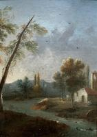 **Near Inverary** 18th Century Thomas Gainsborough Period Landscape Oil Painting (13 of 13)