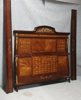 Superb French 5ft Mahogany Bed