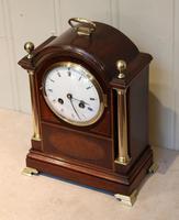 Mahogany and Inlay Bracket Clock (5 of 13)