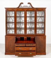 Georgian Style Mahogany Breakfront Bookcase c.1920 (11 of 12)