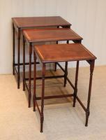 Mahogany Nest of Three Tables (9 of 11)