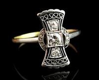 Vintage Art Deco Diamond Filigree Ring, 18ct Gold & Platinum (5 of 14)