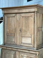 Wonderful French Empire Period Bleached Oak Linen Press (10 of 32)