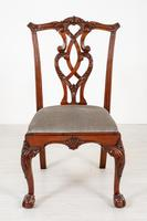 Set of 8 Mahogany Chippendale Style Dining Chairs (11 of 17)