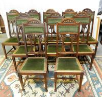 Set of 10 Art Nouveau Dining Chairs (6 of 6)