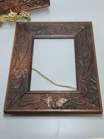 Fabulous Large Pair of Aesthetic Movement Oak Picture or Mirror Frames,Bats & Birds in Reeds c.1900 (3 of 8)