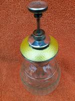 Antique Sterling Silver Hallmarked Yellow Guilloche Enamel Perfume Bottle 1925 Charles S Green & Co Ltd, Birmingham (8 of 8)