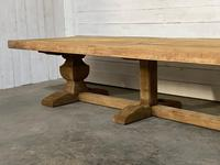 Enormous French Bleached Oak Farmhouse Dining Table (32 of 38)