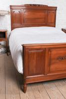 Lovely French Cherry King Size Bed with Simple Carvings (9 of 9)