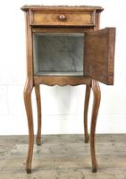 French Walnut and Marble Bedside Cupboard (5 of 9)