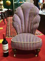 Unusual French 19th Century Upholstered Child's Chair (2 of 7)