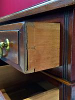 Small Antique Edwardian Leather Bound Mahogany Twin-Pedestal Writing Desk (14 of 16)