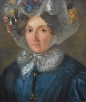 Portrait c1870 Woman in a Floral Bonnet (3 of 5)