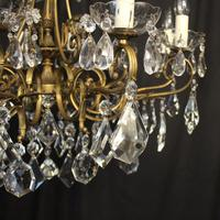 Italian 10 Light Gilded & Crystal Chandelier (8 of 10)