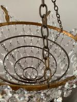 A Single Light French Waterfall Chandelier (5 of 8)