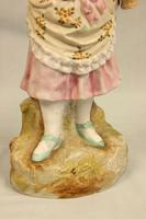 Antique Large Bisque Figurine of Young Girl (8 of 12)