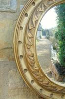 Regency Style Circular Convex Mirror Eagle Crest (4 of 6)
