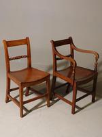 Good & Original Set of Six '4+2' Mid 19th Century Walnut & Oak Chairs (3 of 6)