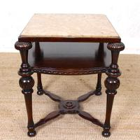 Marble Oak Side Table Continental Queen Anne (8 of 10)