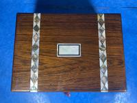 Victorian Rosewood Jewellery Box  With Inlay (4 of 15)