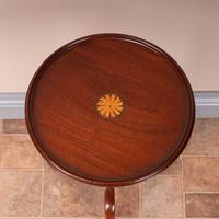 1920s Fan Inlaid Mahogany Wine Table (8 of 8)