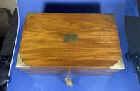 Georgian Solid Mahogany Brassbound Campaign Box (5 of 16)