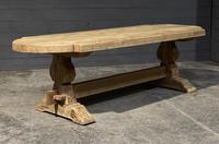 Large Rustic French Bleached Oak Farmhouse Dining Table (6 of 40)