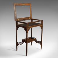 Antique Bijouterie Table, English, Walnut, Glass, Display, Edwardian c.1910 (3 of 12)