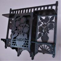 Small English Aesthetic Period Wall-hanging Cabinet in Japanese Style (2 of 4)